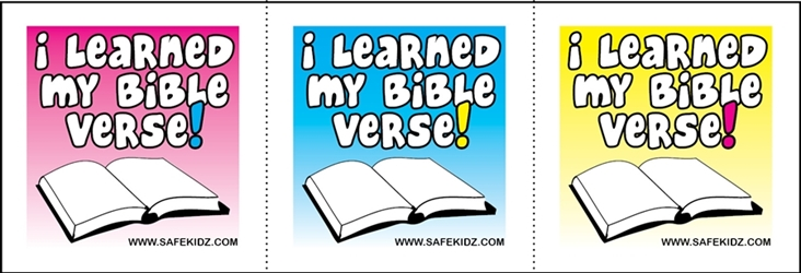 """I learned My Bible Verse"" Stickers - Pack of 200"