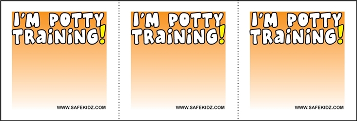 """Im Potty Training"" Stickers - Pack of 200"
