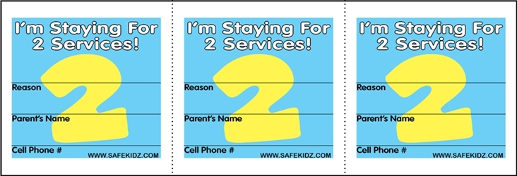 """Im Staying For 2 Services"" Stickers - Pack of 200"