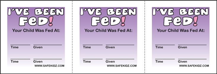 """Ive Been Fed"" Stickers - Pack of 200"