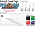Printed Tyvek Tags - Box of 1000 - HT-Printed Tyvek Tags-PT1