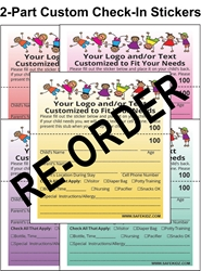 Re-Order 2-Part Check-In & Security Stickers - Box of 800