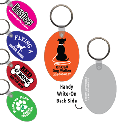 Ring-Its Leash/Collar Tags - Large Oval