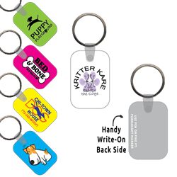 Ring-Its Leash/Collar Tags - Rectangle Small w/RC