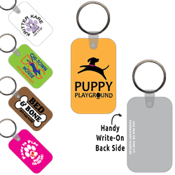 Ring-Its Leash/Collar Tags - Rectangle w/RC