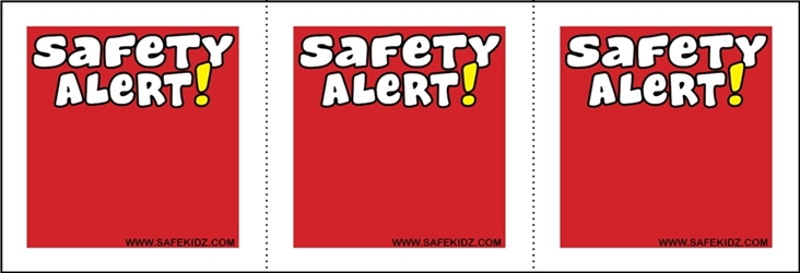 """Safety Alert"" Stickers - Pack of 200"