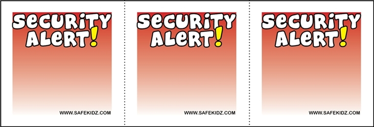 """Security Alert"" Stickers - Pack of 200"